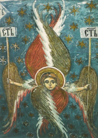 Serafijn uit de hemelse hierarchiën, fresco 16e eeuw