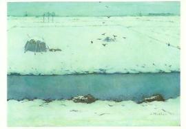 Sneeuwlandschap met sloot, Jan Mankes