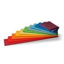 Houten regenboog bouwplaten