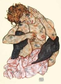 Gehurkt naakt, Egon Schiele