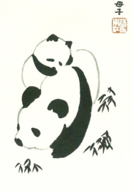 Chinese moeder en babypanda