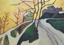Landweg in de winter, Gabriele Münter