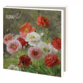 Kaartenmapje met enveloppen, Floral Art