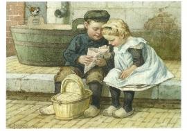 Ot en Sien op stoeprand, Cornelis Jetses