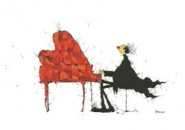 Aan de vleugel of de kleuren van muziek, Michael Ferner