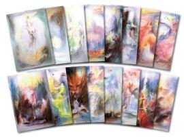 16 kaarten in mapje Parzival, David Newbatt