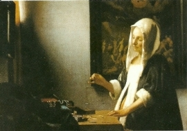 Vrouw met weegschaal, Johannes Vermeer