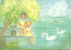 Juli, twee kinderen bij het meer, Ruth Elsässer