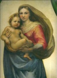 Sixtijnse madonna, Rafael, detail