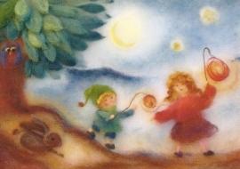 Kinderen met lampionnen 2, Franziska Sertori-Kopp