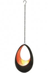 Waxinelichthouder Hanger Drop, brons/koper