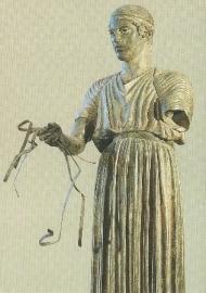 Wagenmenner, detail, Grieks 470 v. Chr.