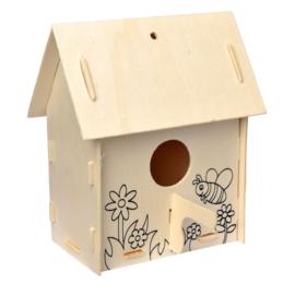 Bouw je eigen vogelhuisje (versie A bijtje)