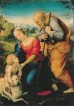 Heilige familie met het lam, Rafael