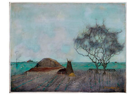 Landschap met kleihoop, Jan Mankes