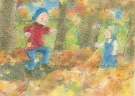 Bladeren stapelen, Sanne Dufft