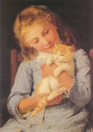 Meisje met kat 2, Albert Anker