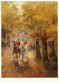 Buitenrit in de herfst, Alfred Lier