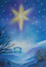 Kerststal 17, A4 poster, Sonja Schoppers