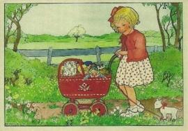Meisje met poppenwagen, Rie Cramer
