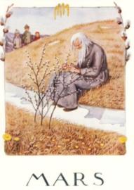 Maart, maandkaart Elsa Beskow