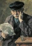 Lezende boer, Karl Krummacher