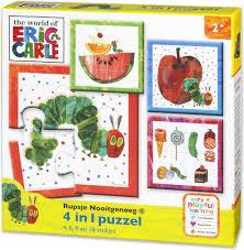 Rupsje nooit genoeg, 4 in 1 puzzel ( 4,6,9 en 16 stukjes, 2+)