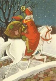 Sint en Piet op paard