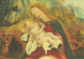Maria met kind (detail), Matthias Grünewald