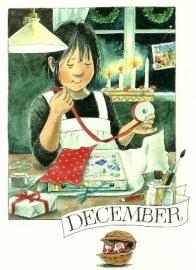 December, maandkaart Lena Anderson