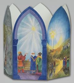Het kerstverhaal, Christiane Lesch, 6-kantige lantaarn