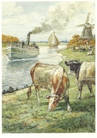 Koeien aan vaart, Cornelis Jetses