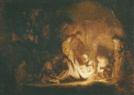 Graflegging van Christus, Rembrandt