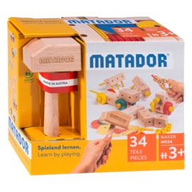 Matador Maker M034 Constructieset Hout, 34dlg (3+)