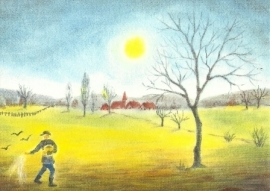 Zaaier op het veld, Erika Hoffmann