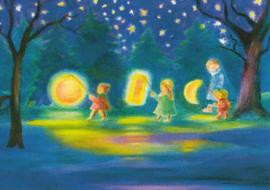 Lampionnenoptocht (drie kinderen), Dorothea Schmidt