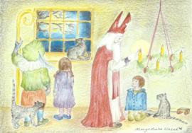 Sint Nicolaas steekt de eerste Adventskaars aan, Margo Heine Slezak
