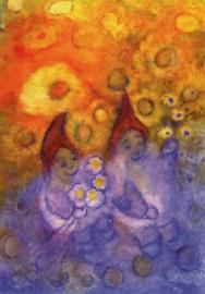 De dwergen verheugen zich over de bloemenpracht, Jula Scholzen Gnad