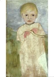Klein meisje met parelketting, Paula Modersohn-Becker