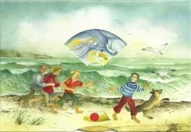 Aan zee, luchtgeesten, draaikaart Christiane Lesch