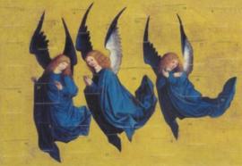 Drie zwevende engelen, Meister des Hausbuches
