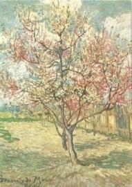Bloeiende perzikboom roze, Vincent van Gogh