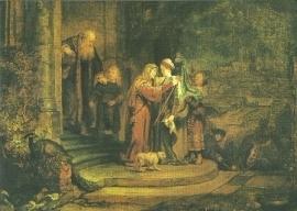 Maria's bezoek bij Elisabeth, Rembrandt