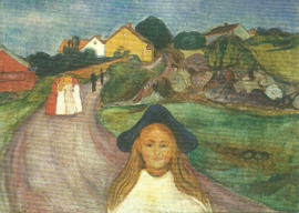 Straat in Asgardstrand, Edvard Munch