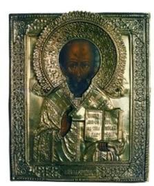 De heilige Nicolaas, Rusland, icoon 19de eeuw