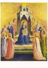 Tronende madonna met kind door engelen omgeven, Fra Angelico