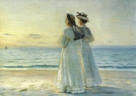 Twee vrouwen op het strand van Skagen, Michael Ancher