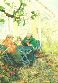 Vrouwen tijdens kaartspelen in de tuin, Inge Löök