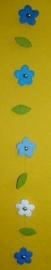 Bloemenslinger blauw