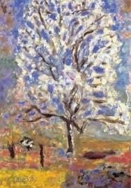 Bloeiende amandelboom, Pierre Bonnard
